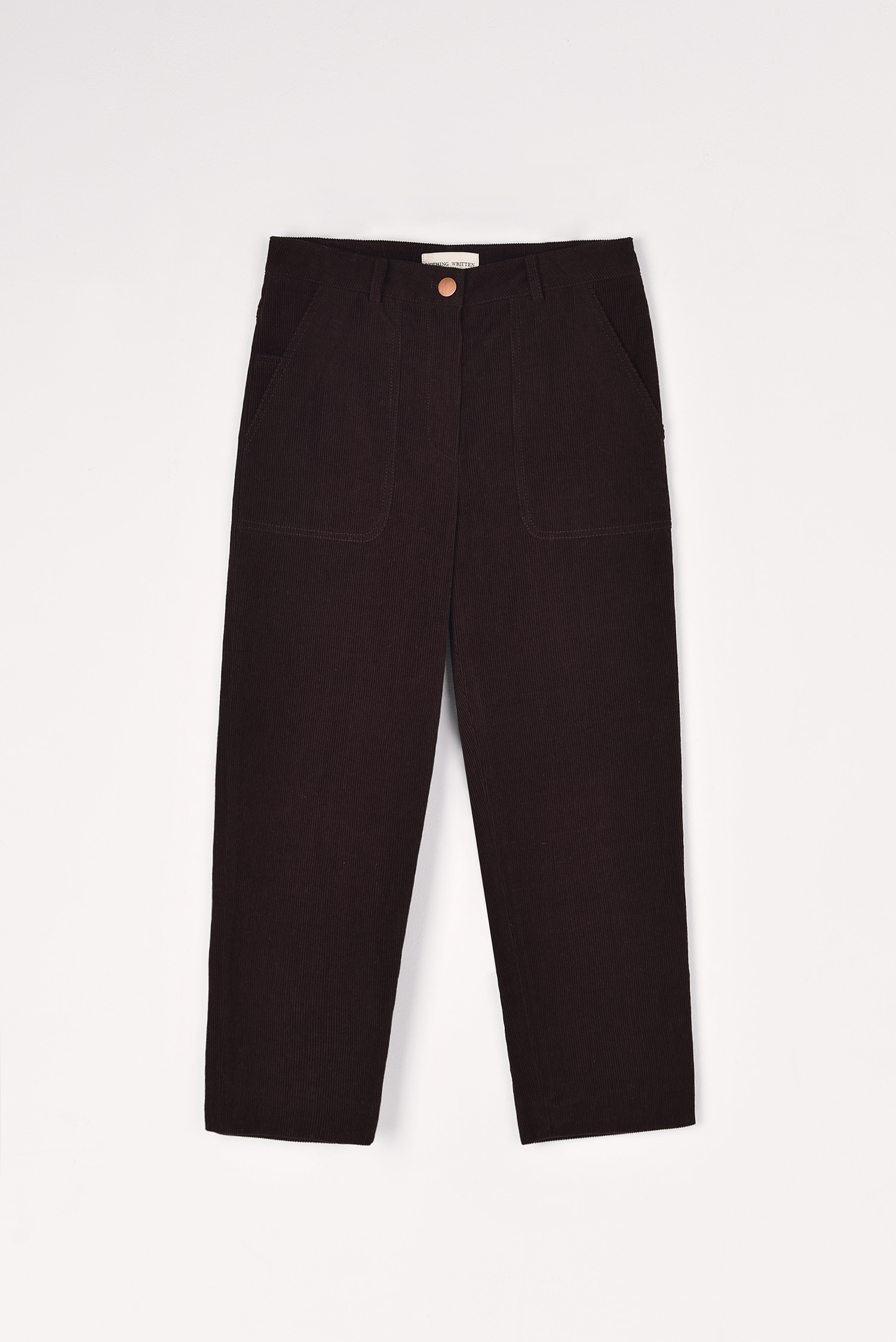 Straight fit corduroy jeans (Brown)