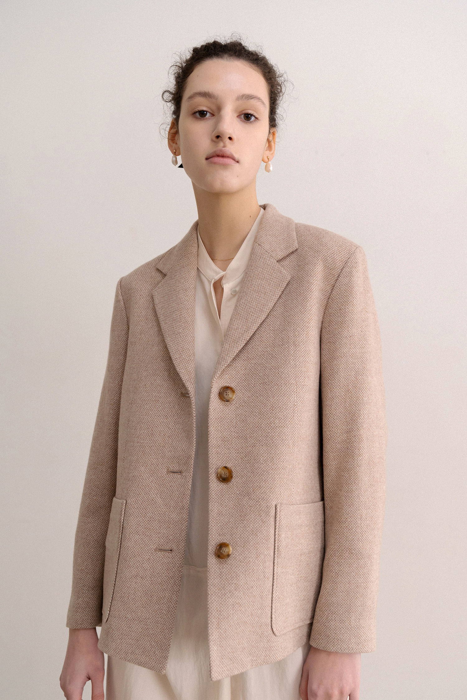 1980's Classic Jacket by abrahammoon (Loyal Beige pink)